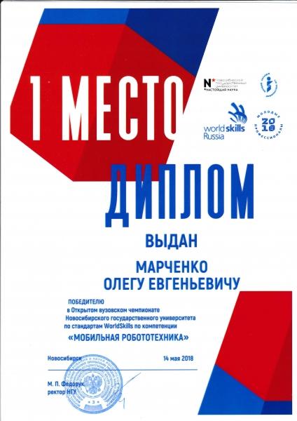 1 место - «Молодые профессионалы (WorldSkills Russia)»